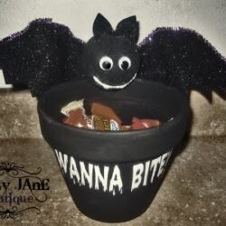 Halloween bat candy jar