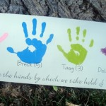 mothers day handprint board