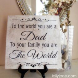 Father's Day dad tile