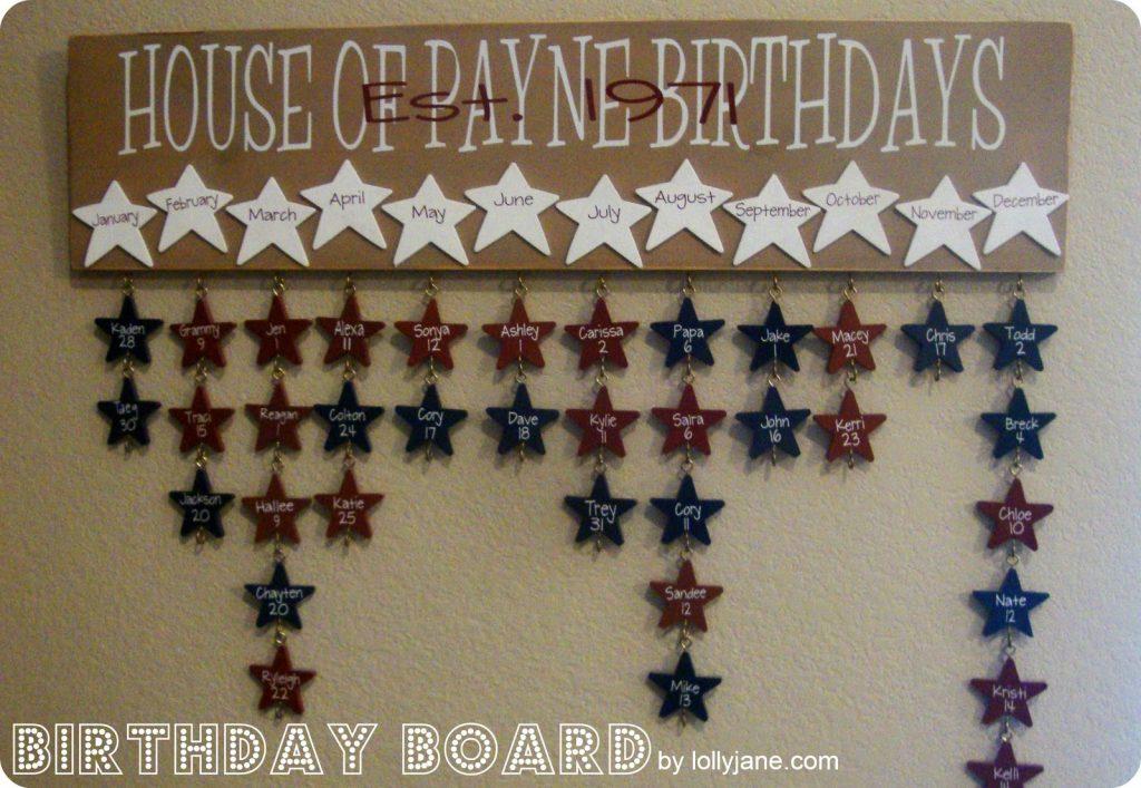 birthday board vinyl lettering lollyjane.com