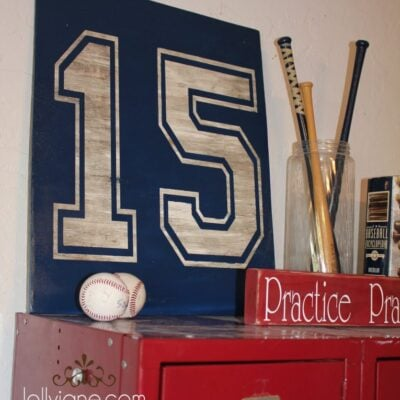 boys bedroom decor number sign