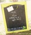 Make a chalkboard bulletin board by attaching wire with screws to the top! #chalkboard #bulletinboard