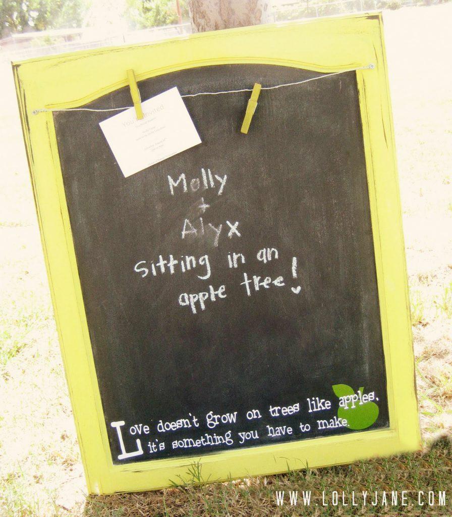 Chalkboard with a twist!