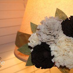 bloom belt turned lampshade using felt