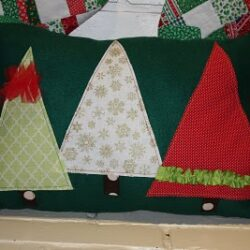 Christmas Tree Ruffle Pillow