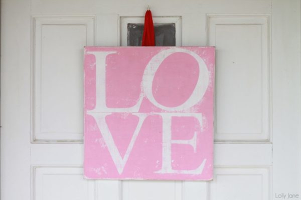 LOVE Valentines Sign lollyjane #valentinesday #craft