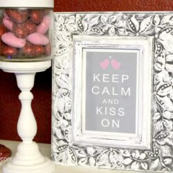keep calm and kiss on Valentines Day printable