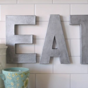 Anthropologie inspired zinc letters tutorial, less than $5!