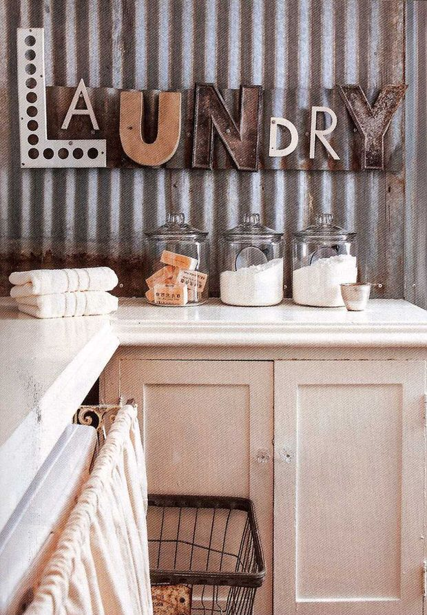 Love this LAUNDRY sign!!