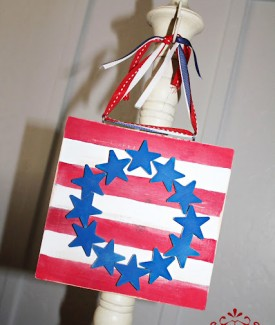 LollyJane stars n stripes plaque