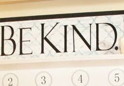 Be Kind quatrefoil sign