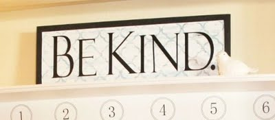 be kind quatrefoil sign lollyjane.com