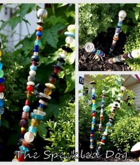 beaded garden stakes lollyjane.com