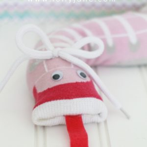 Fun and simple kids craft, sock snakes! Easy to make!