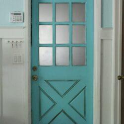 Turquoise Farmhouse Door
