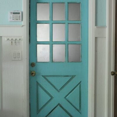 Turquoise Farmhouse Door