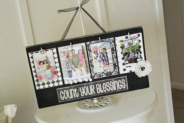 Craft Night | Welcome bunting + Clothespins blessing boards