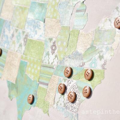 scrapbook paper us map tutorial