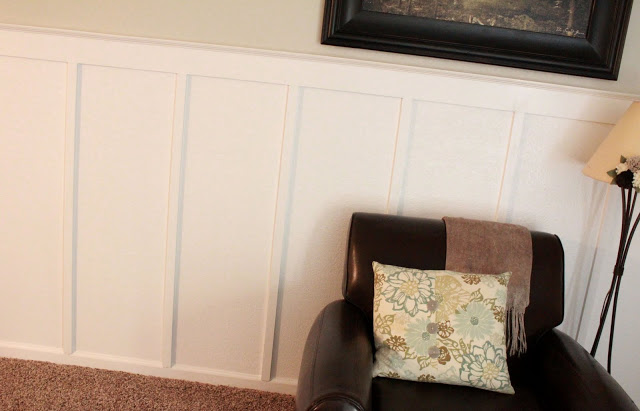 Simple Living Room With Board And Batten Wall Treatment