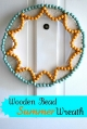 Cute wooden bead wreath tutorial |via lollyjane.com
