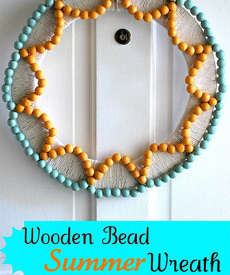 wooden bead wreath tutorial
