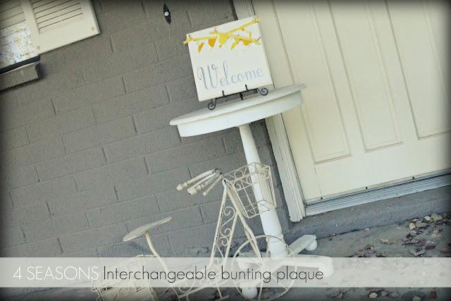interchangeable bunting plaque