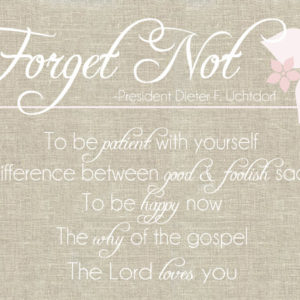 Forget Not in pink #freeprintable
