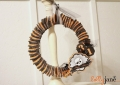 Halloween ruffle cupcake liner wreath