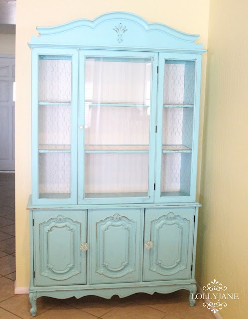Lolly Jane turquoise hutch