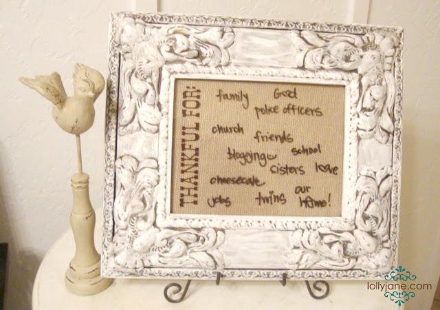 Dry Erase Thankful Frame