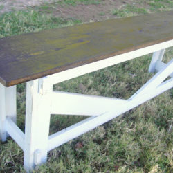 Rustic Stamped Bench PB Knock Off