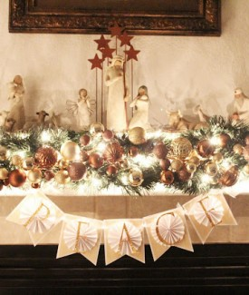 CHRISTmas mantel by Lolly Jane