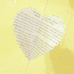 Easy 3D Book Page Heart