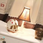 Football curtains football drapes by Lolly Jane
