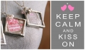 Keep Calm Kiss On Valentine decor by Lolly Jane