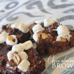 Choco-almond mallow brownies by Lolly Jane