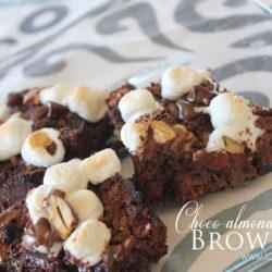 homemade choco-almond-mallow brownies