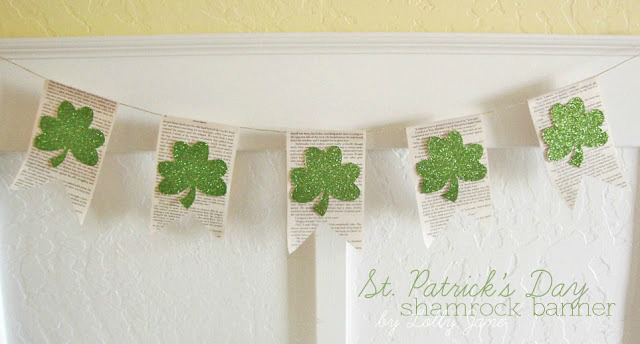 Easy St. Patrick's Day shamrock banner bunting by Lolly Jane (1)