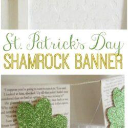glitter shamrock banner
