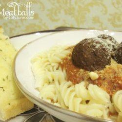 Quick Fusilli+ Meatball Dinner