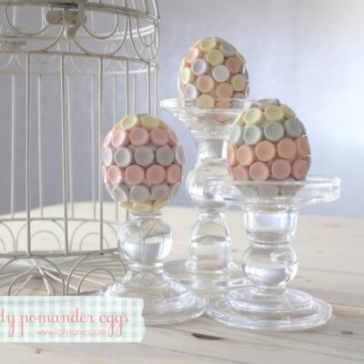 Easter candy pomander eggs