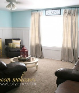 Lolly Jane Living Room Makeover for under $100 #FreshAccents