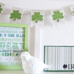 Super ridiculously easy St Patricks Day decor