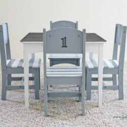 Furniture makeover: children's table & chair set