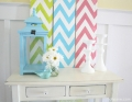 Chevron Summer Mantel DIY LollyJane