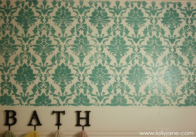 bathroom stencil