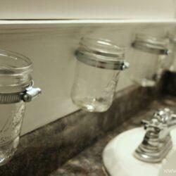 DIY Mason Jar Bathroom Storage