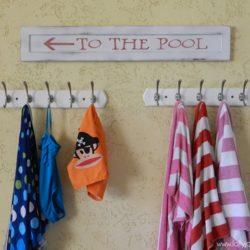 Cute Wood Pool Sign