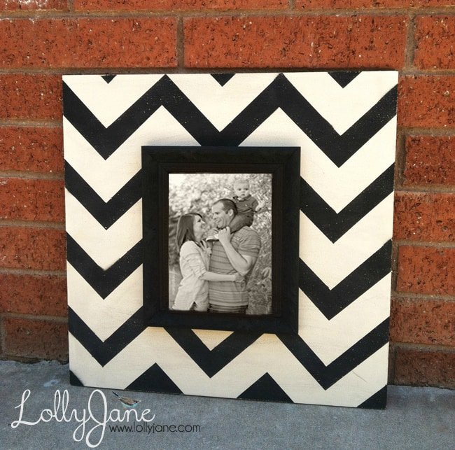 Chevron Wood Picture Frame DIY Beauteous How To Paint A Chevron Pattern