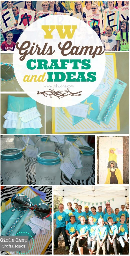 YW Girls Camp Crafts & Ideas via @lollyjaneblog #girlscamp #YW